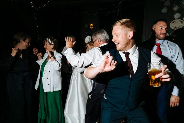 relaxed pub wedding