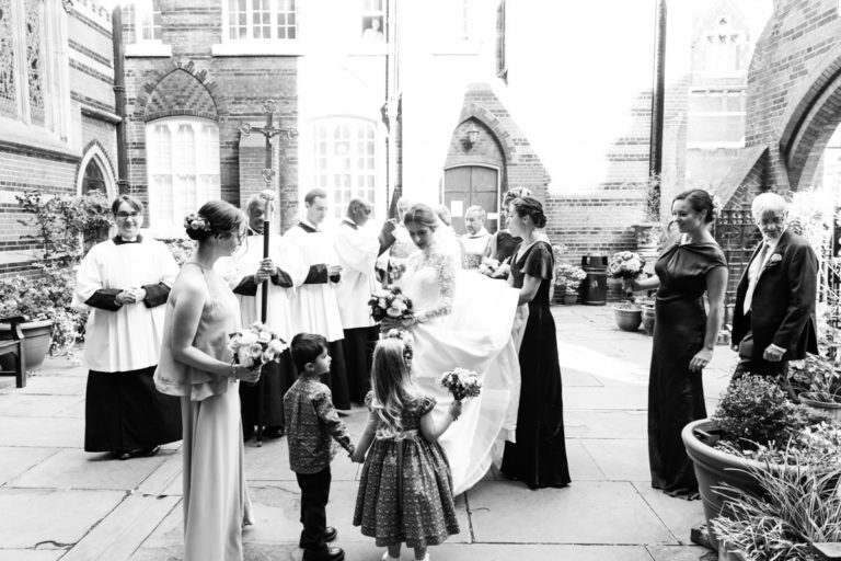 All Saints wedding, Margaret Street, W1