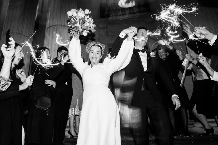 sparklers london wedding photography