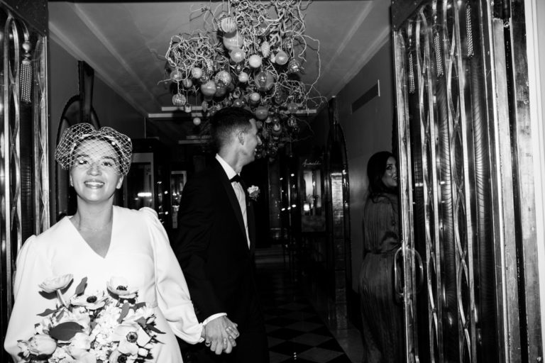 bride and groom portraits claridges wedding