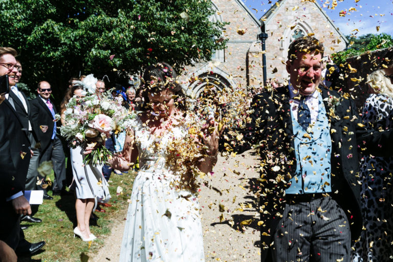 jersey wedding confetti shot